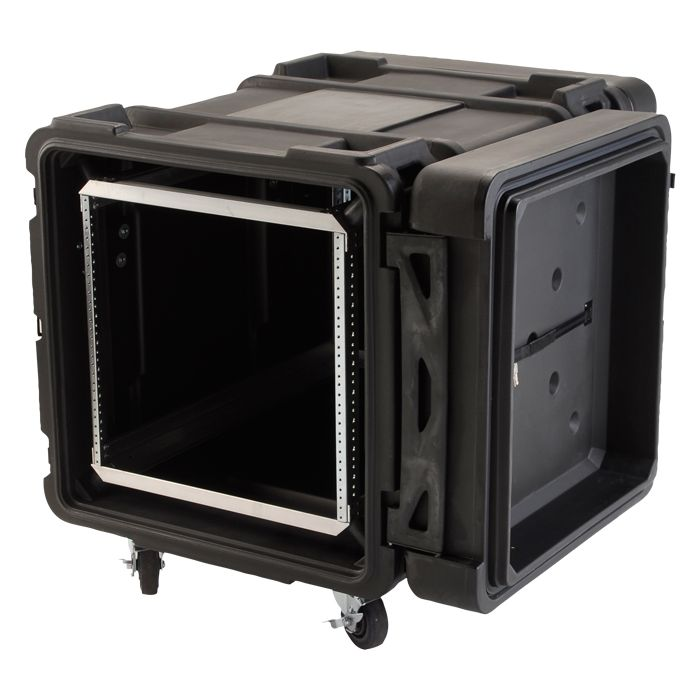 SKB 10U Roto Shockmount Rack Case, 4 Wheel - 30