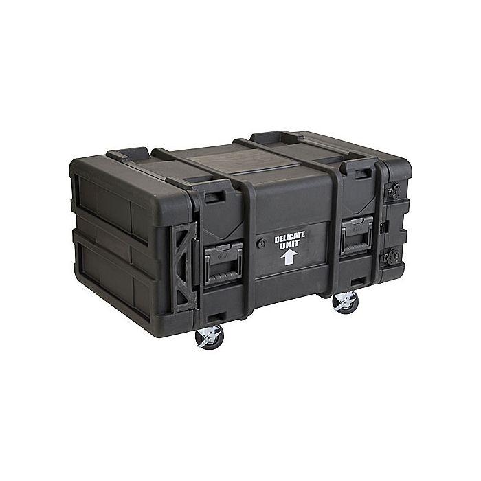 SKB 8U Roto Shockmount Rack Case, 4 Wheel - 30