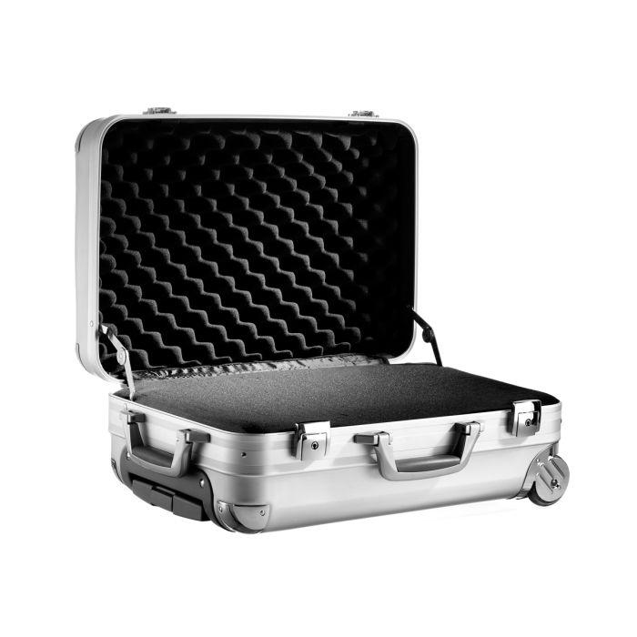 Premium Alumiinivetolaukku, Pehmusteella, Carry-On (500x340x220mm)